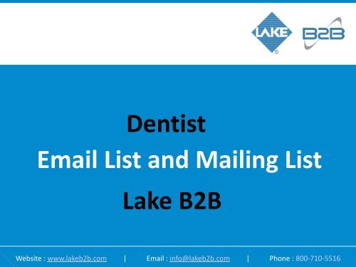 Dentist Email List and Mailing List Lake B2B