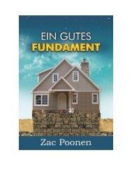 Ein gutes Fundament - Zac Poonen