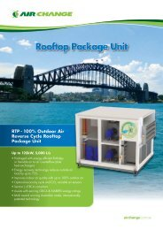 Rooftop Package Unit - Air Change