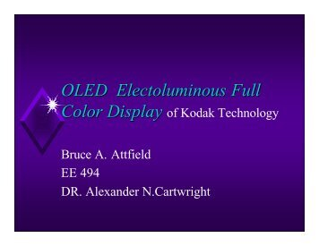 OLED Electoluminous Full Color Display