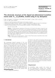 The electronic structure of the doped one-dimensional transition ...