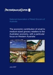 The economic contribution of small to medium-sized grocery ...