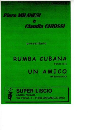 RUMBA CUBANA UN AMICO - edizioni musicali superliscio