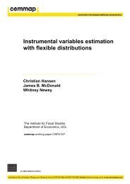Instrumental variables estimation with flexible distributions - Cemmap