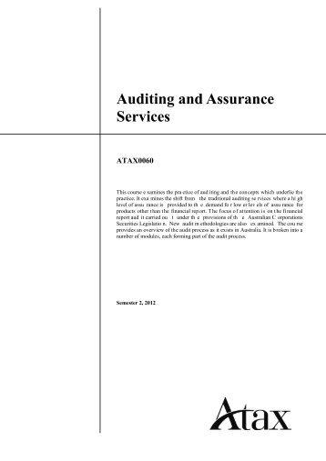 Audit course outline