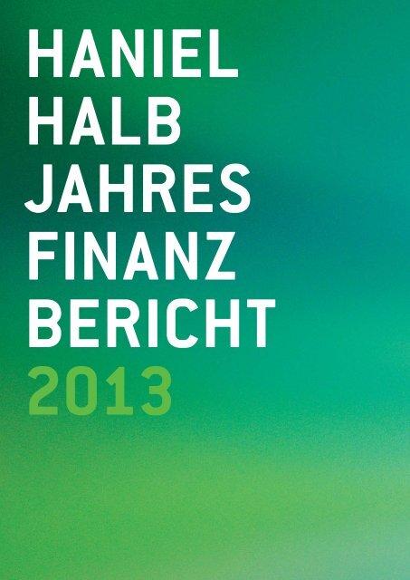 Halbjahresfinanzbericht 2013 - Haniel Geschäftsbericht 2012