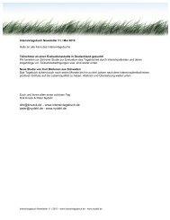 Intensivtagebuch Newsletter 11 - nydahl.de
