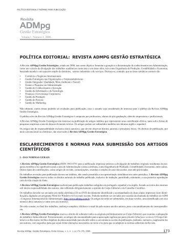 Normas em Português - Congresso Internacional de Administração