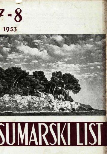 ÅUMARSKI LIST 7-8/1953