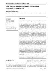 Psychotropic substance-seeking - Anthro Vancouver Wsu