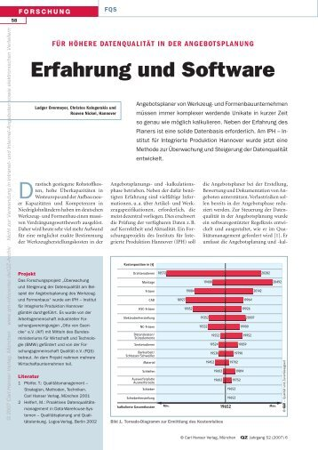 Erfahrung und Software - QZ-online.de