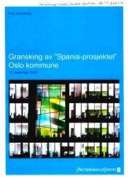 PwC Gransking 17. desember 2009 • 1. - Oslo kommune