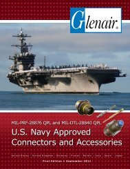 U.S. Navy Approved Connectors and Accessories - Glenair, Inc.