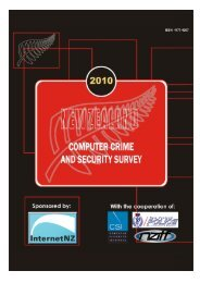 2010 New Zealand Computer Crime and Security Survey - Otago ...