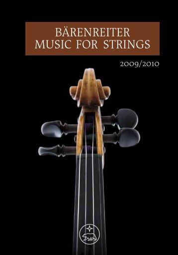 BÄRENREITER MUSIC FOR STRINGS - Bärenreiter Verlag