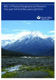MSc Physical Geography by Research brochure