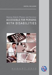 Making mobile phones and services accessible for persons with ...
