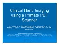 Clinical Hand Imaging using a Primate PET Scanner