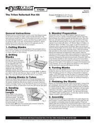 77C94 1 The Triton Rollerball Pen Kit General ... - Woodcraft