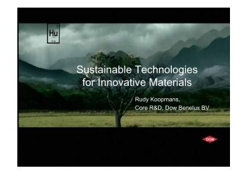Sustainable Technologies for Innovative Materials - AIBN