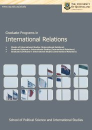 International Relations - School of Political Science and ...