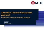MTR - Target Cost - Hong Kong Construction Association