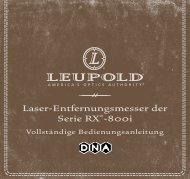 Laser-Entfernungsmesser der Serie RX®-800i - Leupold