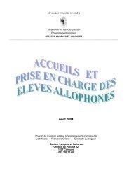 Document - Secteur Langues et Cultures - Espace d'échanges ...