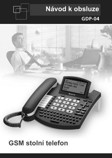 Návod k obsluze GSM stolní telefon - Jablocom
