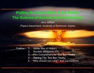 Putting the Genie Back in the Bottle: The Science of Nuclear Non ...