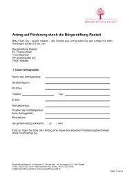 Download Antragsformular (pdf, 250 Kb) - Bürgerstiftung Rastatt