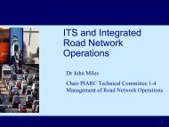 ITS and Integrated Road Network Operations