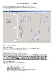 Tracés de graphes en C++ Builder - Pages de Michel Deloizy