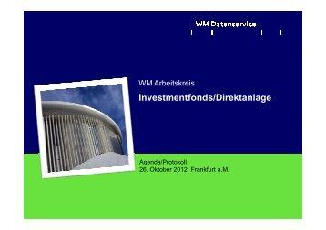 Arbeitskreis Investmentfonds/Direktanlage