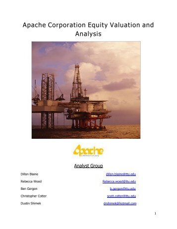 Apache Corporation Equity Valuation and Analysis
