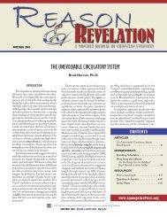 THE UNEVOLVABLE CIRCULATORY SYSTEM - Apologetics Press