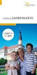 1 Jahr für 40 € - Schlösserland Sachsen