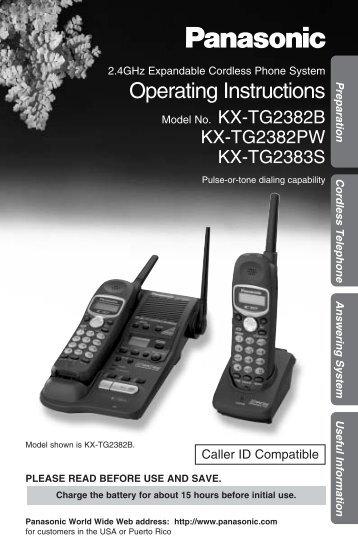 Panasonic 2.4GHz Expandable Cordless - Radio Shack