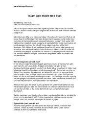 Islam och målet med livet - Islamguiden