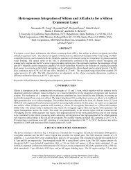 Heterogeneous Integration of Silicon and AlGaInAs for a Silicon ...