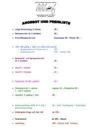 Preisliste zum Download - lilihof.ch