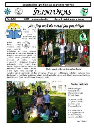 2009-09,Nr.54 - Bagaslaviškio Igno Šeiniaus pagrindinė mokykla