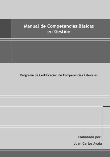 Manual de Competencias Básicas en Gestión - OIT/Cinterfor