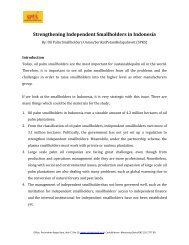 Strengthening Independent Smallholders in Indonesia