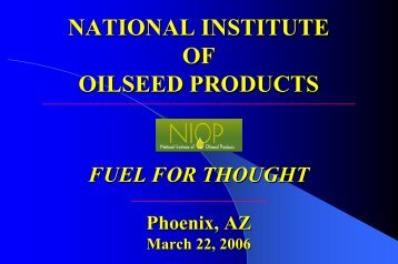 US recession - National Institute of Oilseed Products