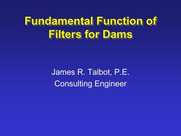 EXAMPLE SEEPAGE PROBLEMS IN DAMS