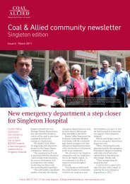 Coal & Allied Community Newsletter Singleton edition February 2011