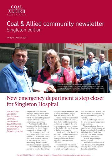 Coal & Allied Community Newsletter Singleton edition February 2011