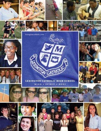 Download the 2012-13 Admissions Brochure - Lexington Catholic ...