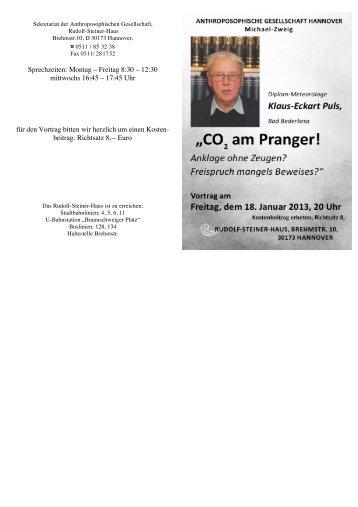 Faltblatt Puls - KlimaNotizen
